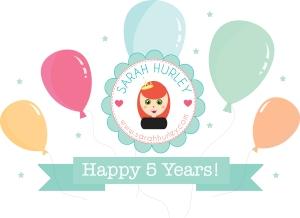 sarah hurley 5 year birthday
