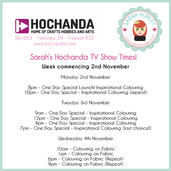 sarah hurley hochanda show times 2nov