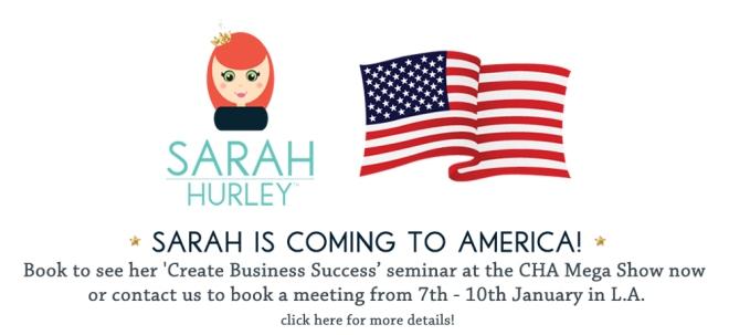 Sarah Hurley America Banner