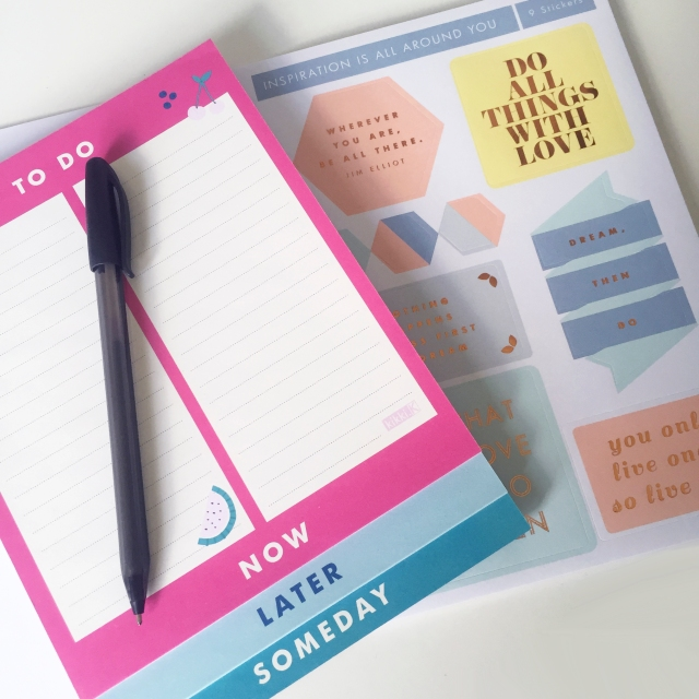 Kikki K To Do List and Stickers Sarah Hurley