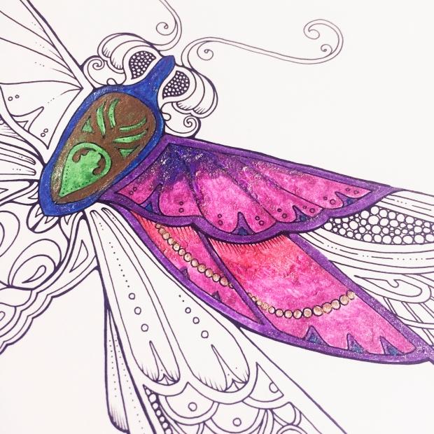 Colouring Book Glitter Blending Sarah Hurley