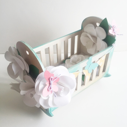 DCWV Baby Cot Roses Close Up Sarah Hurley