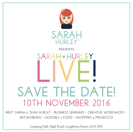 SARAH HURLEY LIVE SAVE THE DATE