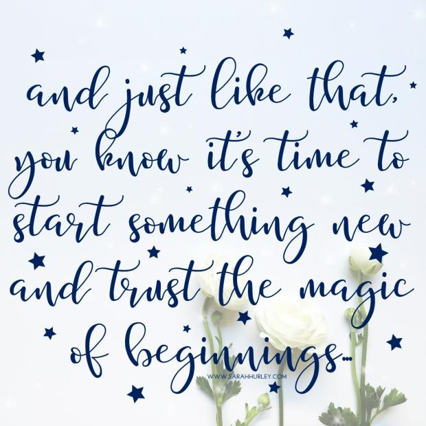 trust beginnings quote