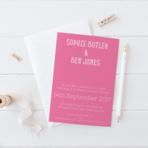 Colourblock Stationer Invitation
