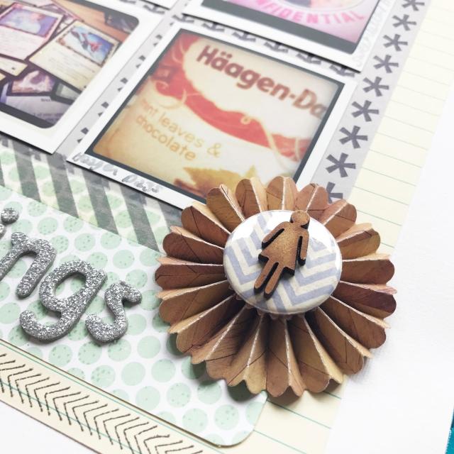 National Scrapbook Day Favourite Scrapbook Page Sarah Hurley Close Up 2